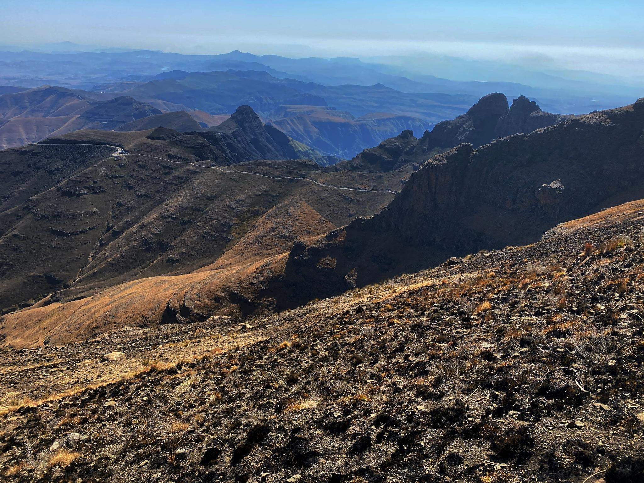 Views of the Drakensberg mountain range