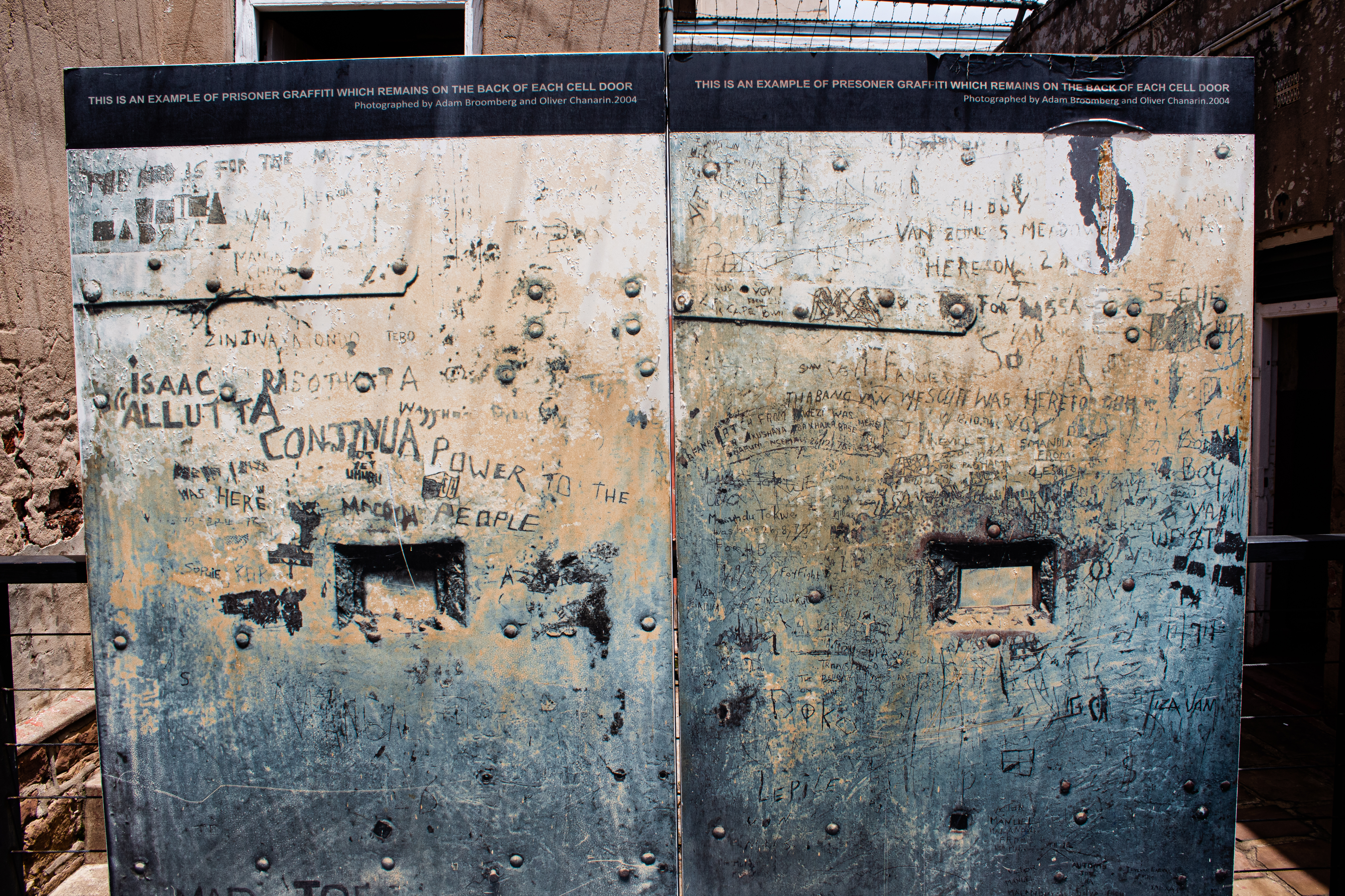 Image of original graffiti created by the prisioners
